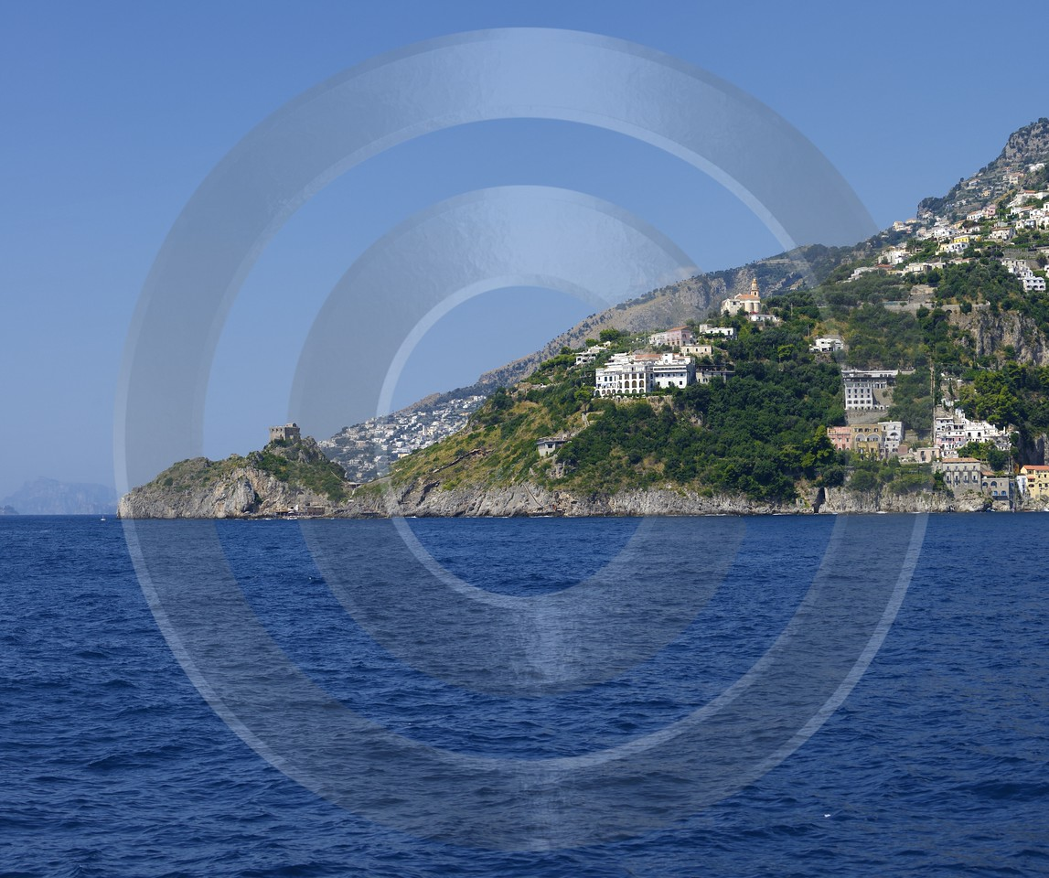 Amalfi Port Italy Campania Summer Sea Ocean Viewpoint City Rock Stock Pictures Modern Art Prints - 013515 - 10-08-2013 - 7124x5961 Pixel