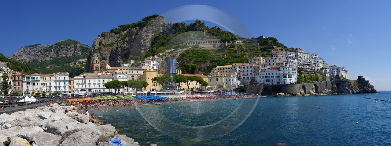 Amalfi Port Italy Campania Summer Sea Ocean Viewpoint Fine Art Photography Gallery Sunshine - 013526 - 10-08-2013 - 16333x6128 Pixel