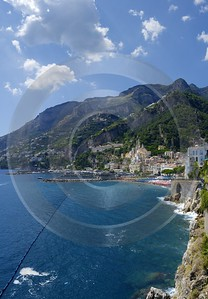Amalfi Italy Campania Summer Sea Ocean Viewpoint Panorama Fine Art Photography For Sale - 013544 - 10-08-2013 - 7004x10086 Pixel