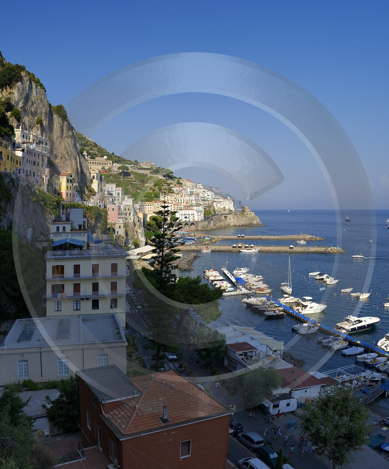 Amalfi Port Coast Town Italy Campania Summer Sea Art Photography For Sale - 013447 - 08-08-2013 - 6626x7989 Pixel