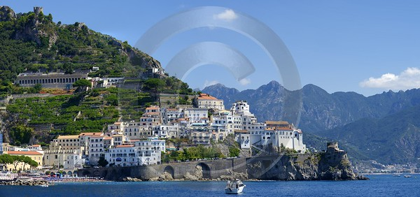 Amalfi Port Italy Campania Summer Sea Ocean Viewpoint Winter Stock Images Fine Art Foto - 013519 - 10-08-2013 - 12107x5686 Pixel