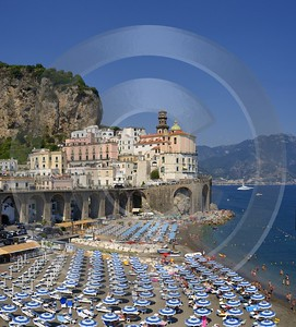 Atrani Tyrrhenian Sea Town Italy Campania Summer Viewpoint Fine Arts Fine Art Photography For Sale - 013300 - 05-08-2013 - 7039x7792 Pixel