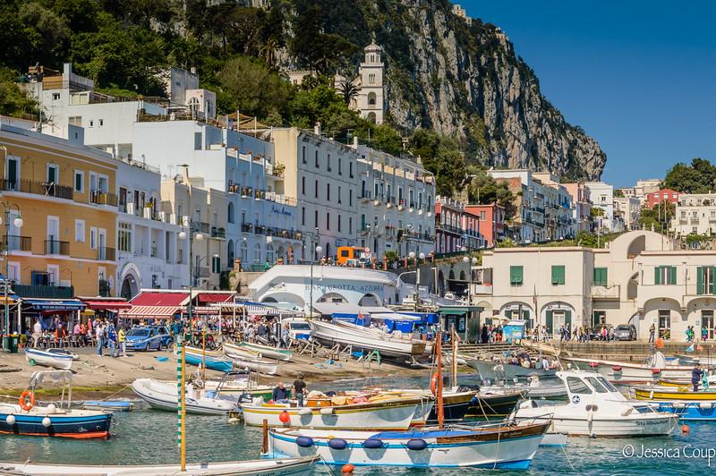 Point of Embarking in Capri