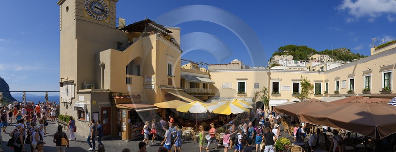 Capri Island Piazetta Italy Campania Summer Sea Ocean Royalty Free Stock Images Modern Art Prints - 013705 - 14-08-2013 - 17240x6608 Pixel