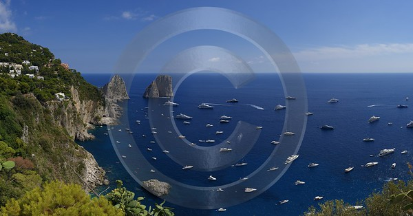 Capri Island Giardini Augusto Luxury Yacht Boat Summer Fine Art Photography Prints Fine Art Photos - 013682 - 14-08-2013 - 14025x7335 Pixel