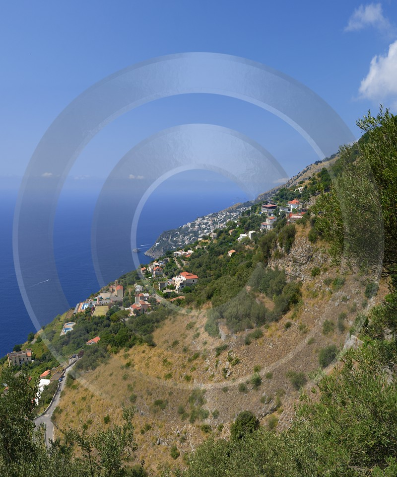 Furore Italy Campania Summer Sea Ocean Viewpoint Panorama Landscape Stock Pictures - 013569 - 12-08-2013 - 6704x8042 Pixel