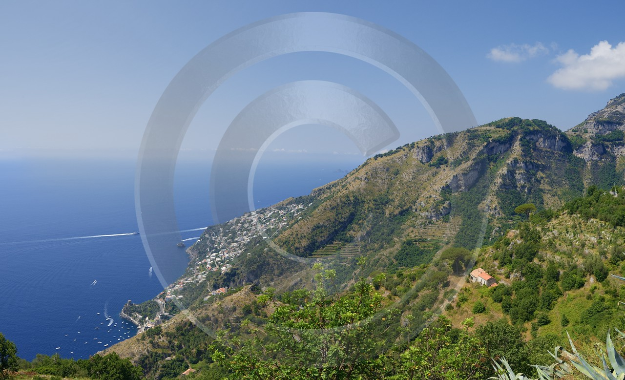 Furore Italy Campania Summer Sea Ocean Viewpoint Panorama Spring Photography Prints For Sale - 013570 - 12-08-2013 - 11984x7285 Pixel