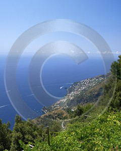 Furore Italy Campania Summer Sea Ocean Viewpoint Panorama Cloud Royalty Free Stock Images - 013575 - 12-08-2013 - 6519x8139 Pixel