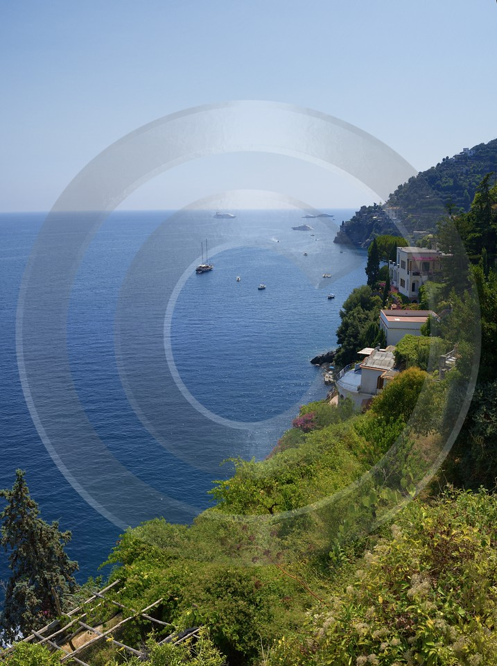 Marmorata Tyrrhenian Sea Town Italy Campania Summer Viewpoint View Point Image Stock Sale - 013282 - 05-08-2013 - 6650x8909 Pixel