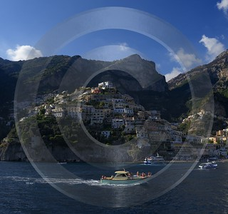 Positano Italy Campania Summer Sea Ocean Viewpoint Panorama Fine Art Printing Barn Stock Pictures - 013727 - 14-08-2013 - 6677x6265 Pixel