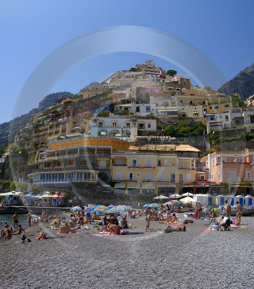 Positano Beach Town Italy Campania Summer Sea Ocean Grass Stock Pictures Outlook - 013432 - 08-08-2013 - 6615x7525 Pixel