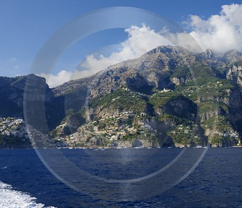 Positano Italy Campania Summer Sea Ocean Viewpoint Panorama Photography Rock Forest Modern Wall Art - 013748 - 14-08-2013 - 7115x6140 Pixel