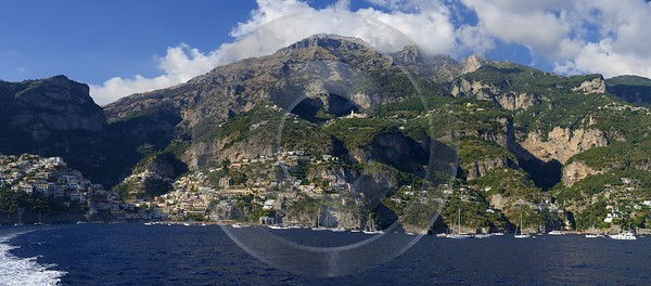 Positano Italy Campania Summer Sea Ocean Viewpoint Panorama Town Fine Art Photographers - 013747 - 14-08-2013 - 10254x4515 Pixel