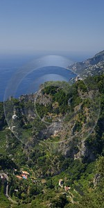 Ravello Tyrrhenian Sea Town Italy Campania Summer Viewpoint Hi Resolution Country Road Stock Images - 013255 - 05-08-2013 - 7182x14355 Pixel