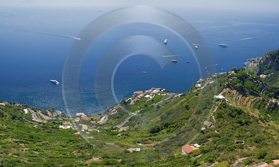Ravello Tyrrhenian Sea Town Italy Campania Summer Viewpoint Fine Art Fotografie Tree Art Prints Sky - 013260 - 05-08-2013 - 11953x7121 Pixel