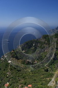 Ravello Tyrrhenian Sea Town Italy Campania Summer Viewpoint Fine Art Posters Stock Pass Barn - 013252 - 05-08-2013 - 6548x9908 Pixel