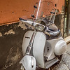 Vespa with a Shield