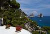 The Faraglioni sea stack rocks on the Island of Capri, Campania, Italy.