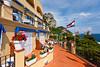The hotel Webber Ambassador at Marina Piccola on the Island of Capri, Campania, Italy.