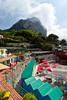 The Marina Piccola on the Island of Capri, Campania, Italy.