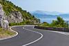 The Amalfi coast roadway near Cetera, Italy.