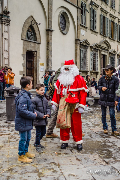 Wishes Being Told to Babbo Natale