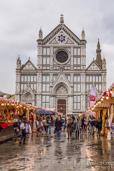 Christmas Market at Basilica of Santa Croce