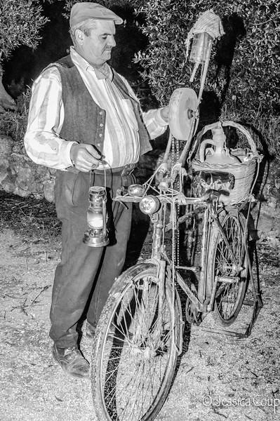 Knife Sharpener by Bike