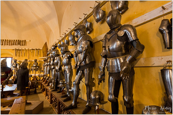 The Churburg armory, the largest private collection of amour in Europe