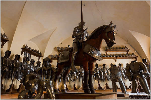 The armour of the horseman is from 1540. it belongs to a count Trapp
