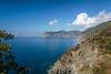 The Italian coastline near Corniglia, Cinque terre, Italy, Europe.
