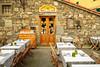 An outdoor restaurant in Corniglia, Cinque terre, Italy, Europe.