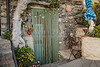 A unique doorway in the village of Corniglia, Cinque terre, Italy, Europe.
