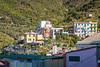 Colorful building architecture near Corniglia, Cinque terre, Italy, Europe.