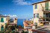 Colorful building architecture near Corniglia, Cinque terre, Italy, Europe.