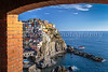 The cliffside village of Manarola, Cinque terre, Liguria, Italy, Europe.