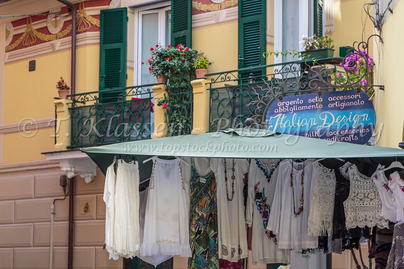 A display of items for sale in the shops in Monterosso al Mare, Liguria, Italy, Europe.