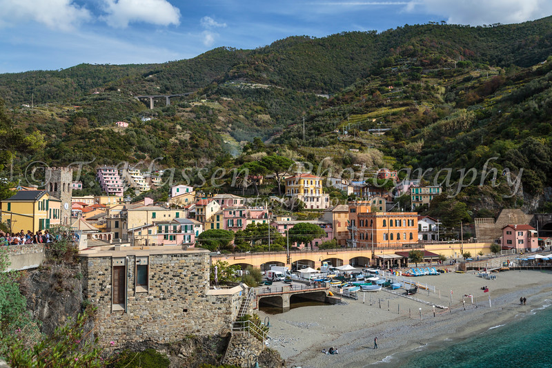The coastal village of Monterosso al Mare, Liguria, Italy, Europe.