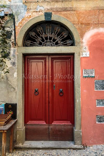 A doorway in Monterosso al Mare, Liguria, Italy, Europe.