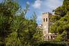 The historic clock tower in Monterosso al Mare, Liguria, Italy, Europe.
