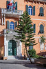 Building architecture in Monterosso al Mare, Liguria, Italy, Europe.