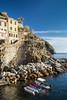 The cliffside village of Riomaggiore, Cinque Terre, Italy, Europe.