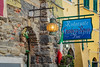 A bar and restaurant sign in the village of Vernazza, Cinque Terre, Liguria, Italy, Europe.