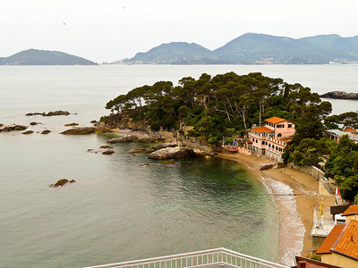 Coast homes in Lerici.