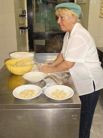 Handmade gnocchi. This lady was recently featured in an article on Lerici in the NYT Travel section. She is a terrific host, working the tables, cooking in the kitchen and still has time to kid with the customers.