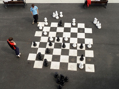 Chess on a large scale.