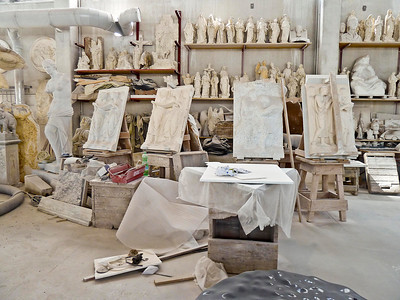 Carrara workshop.