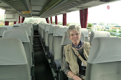 Joyce as the lonely bus rider to Lerici.