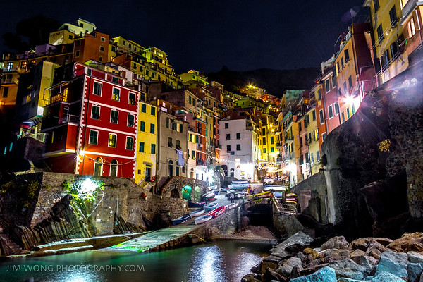 Night view, Riomaggiore