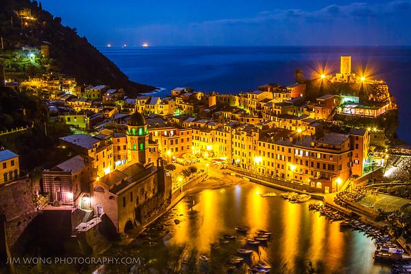Night view, Vernazza
